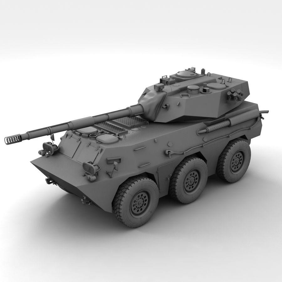 Rusty Tank Destroyer royalty-free 3d model - Preview no. 18