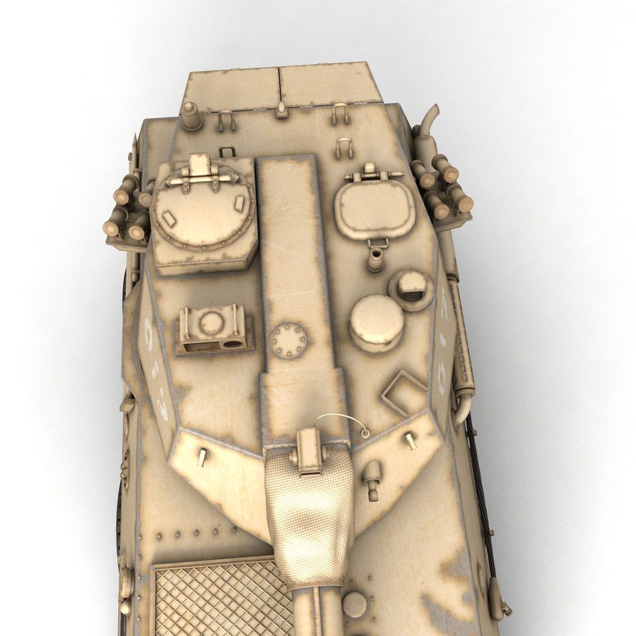 Rusty Tank Destroyer royalty-free 3d model - Preview no. 5