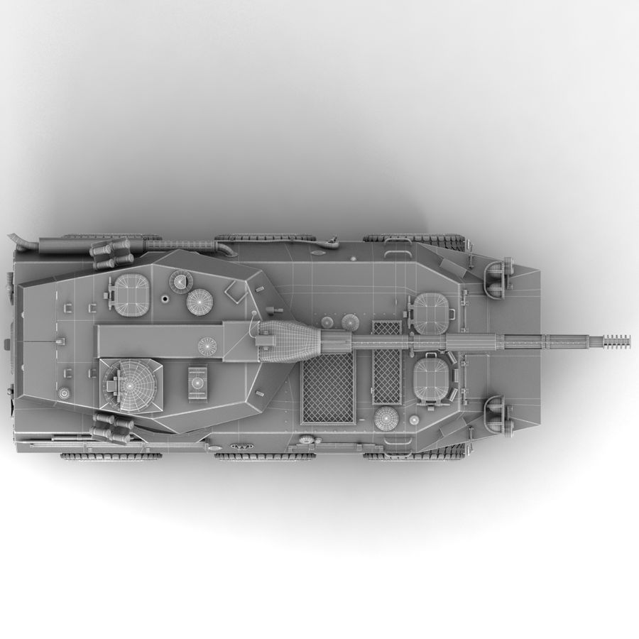 Rusty Tank Destroyer royalty-free 3d model - Preview no. 20
