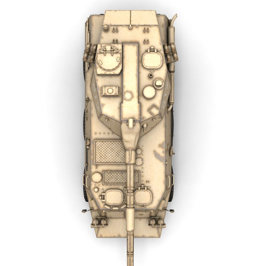 Rusty Tank Destroyer royalty-free 3d model - Preview no. 10