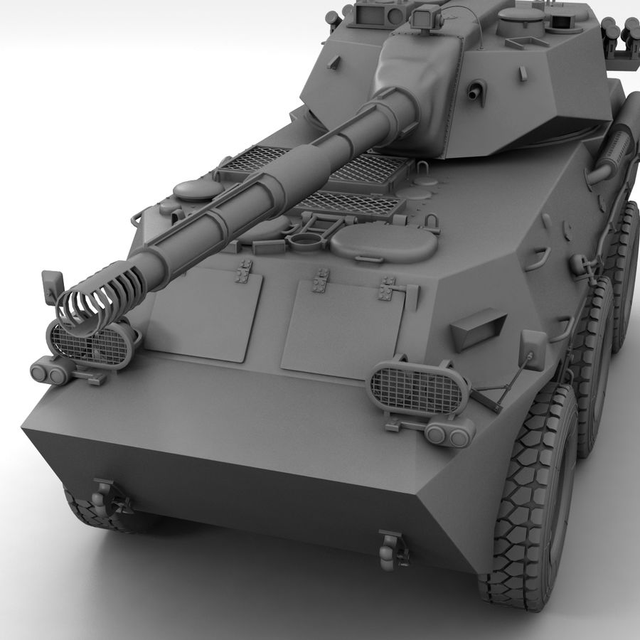 Rusty Tank Destroyer royalty-free 3d model - Preview no. 19