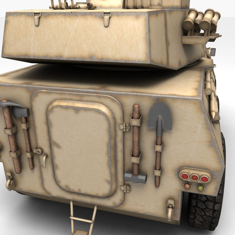 Rusty Tank Destroyer royalty-free 3d model - Preview no. 9