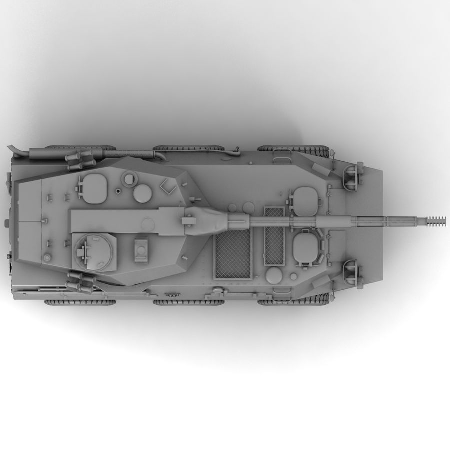 Rusty Tank Destroyer royalty-free 3d model - Preview no. 15