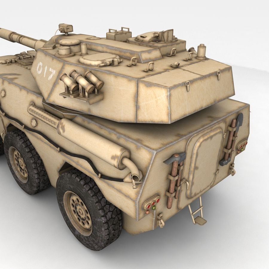 Rusty Tank Destroyer royalty-free 3d model - Preview no. 2