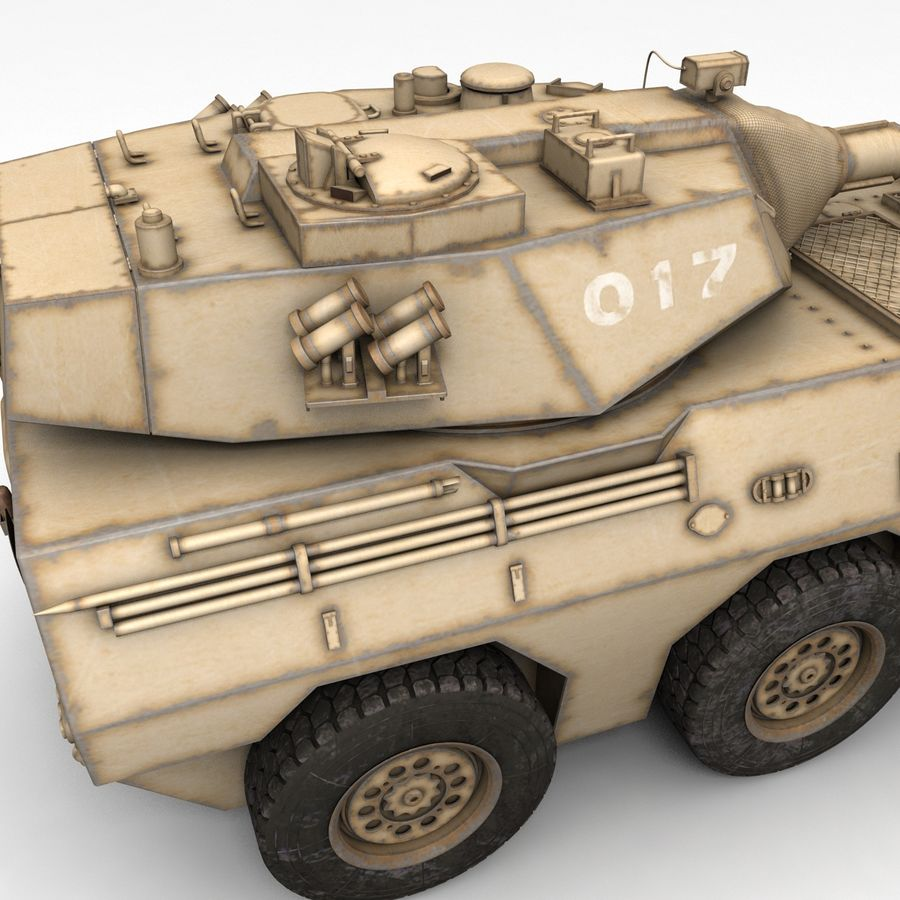 Rusty Tank Destroyer royalty-free 3d model - Preview no. 8