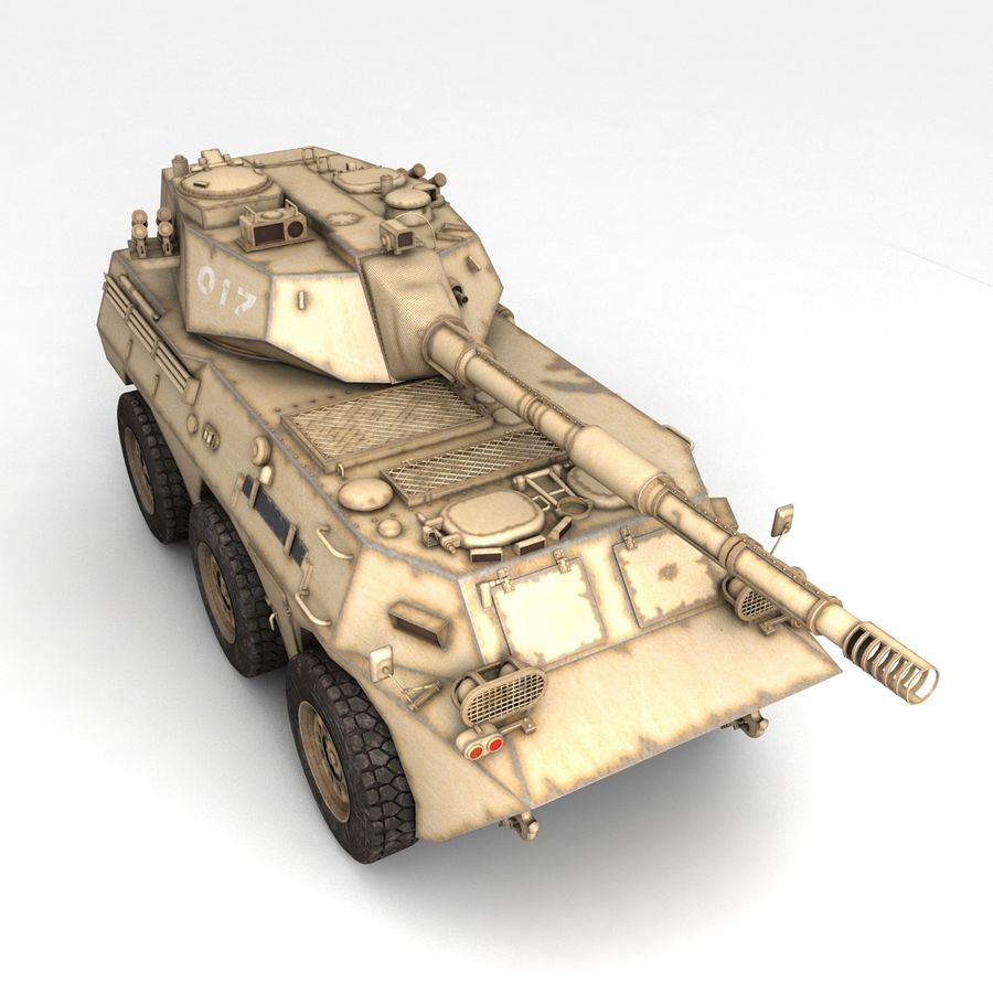 Rusty Tank Destroyer royalty-free 3d model - Preview no. 6