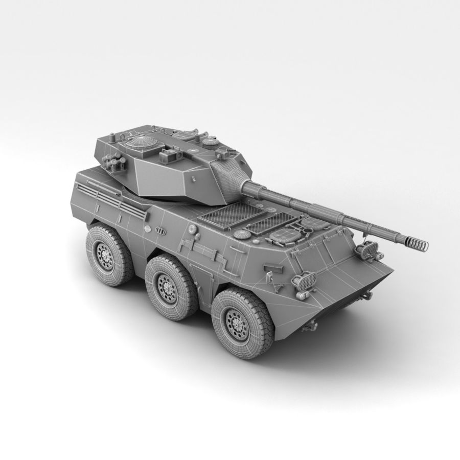 Rusty Tank Destroyer royalty-free 3d model - Preview no. 25