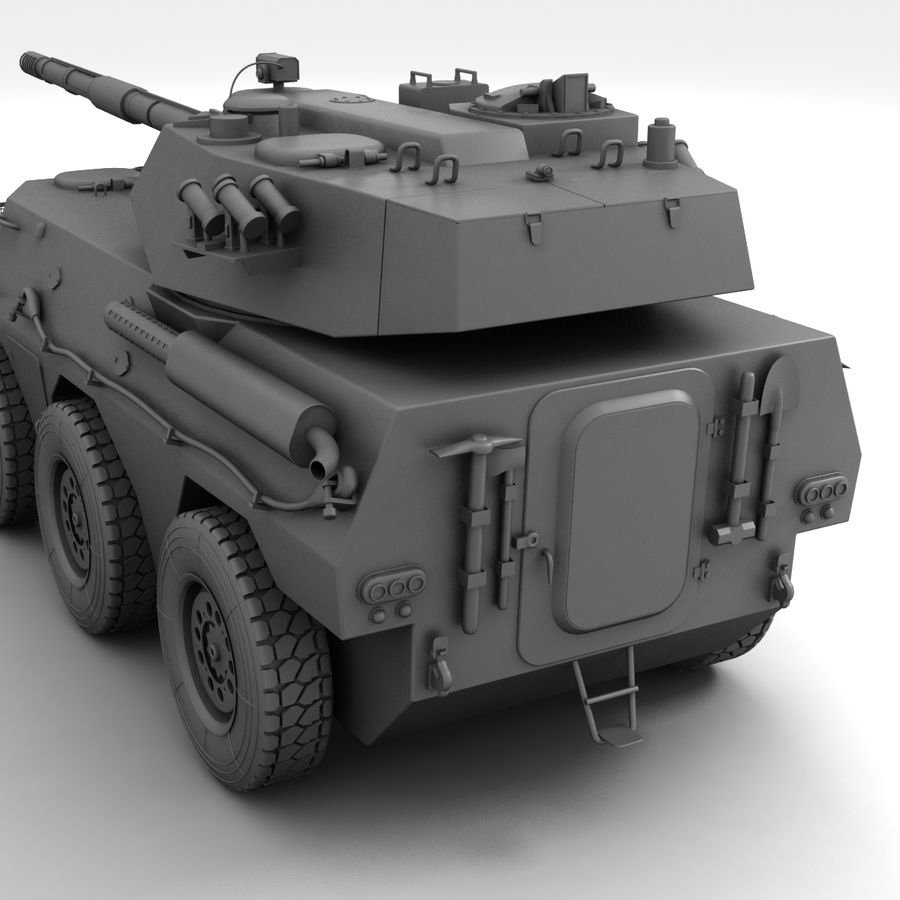 Rusty Tank Destroyer royalty-free 3d model - Preview no. 17