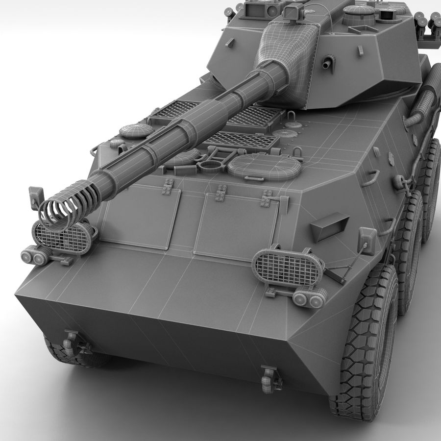 Rusty Tank Destroyer royalty-free 3d model - Preview no. 24