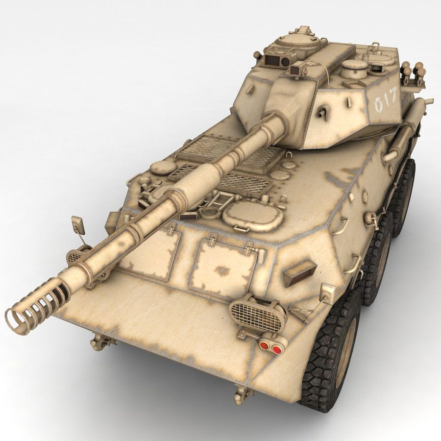 Rusty Tank Destroyer royalty-free 3d model - Preview no. 1
