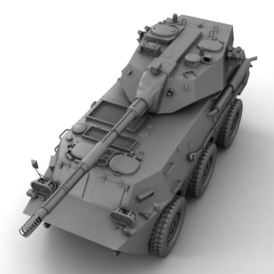 Rusty Tank Destroyer royalty-free 3d model - Preview no. 16