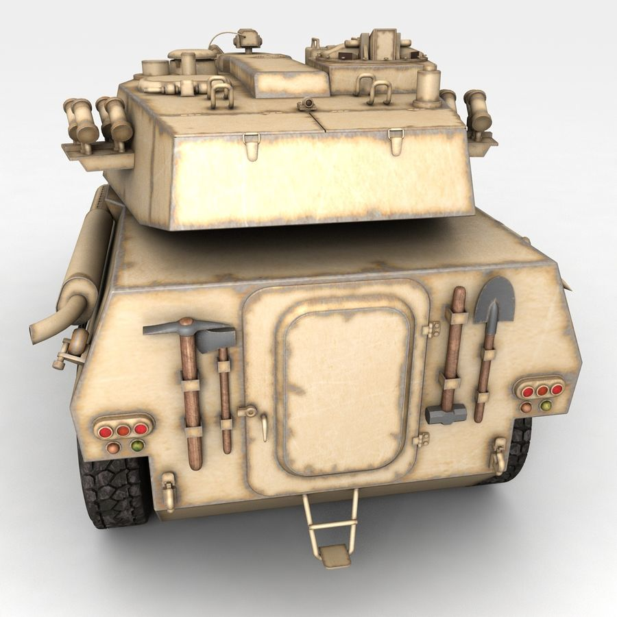 Rusty Tank Destroyer royalty-free 3d model - Preview no. 3