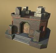 Casa de pedra LowPoly Fantasy 3d model