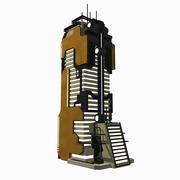 科幻建筑现代城-科幻奇幻瓷砖10 3d model
