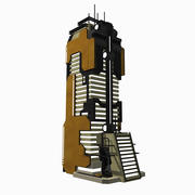 Sci Fi Building Modern City - Sci-Fi Fantasy Tile 10 3d model