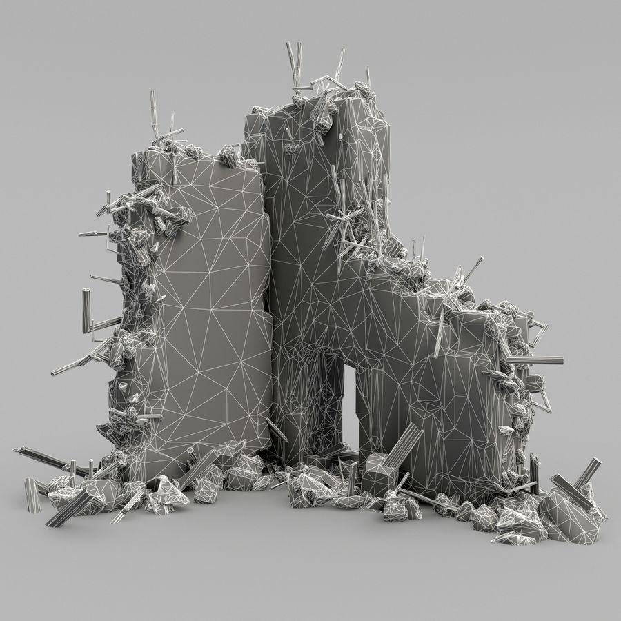 Ruinas de edificios royalty-free modelo 3d - Preview no. 10