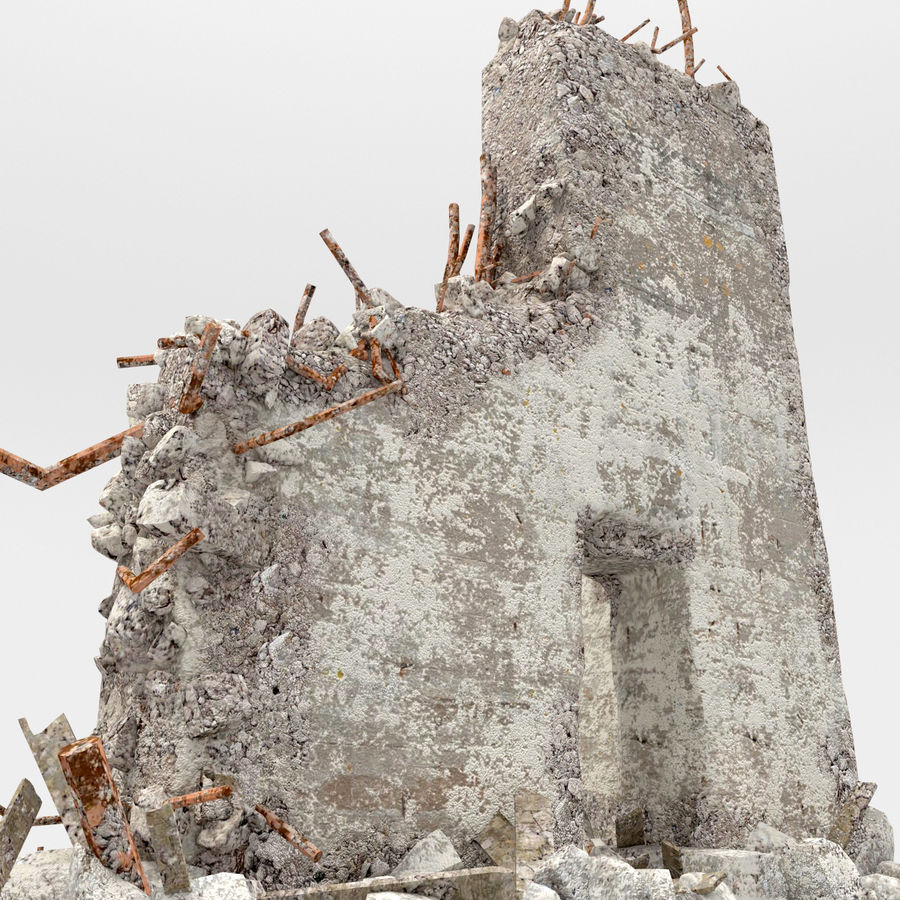 Ruinas de edificios royalty-free modelo 3d - Preview no. 6