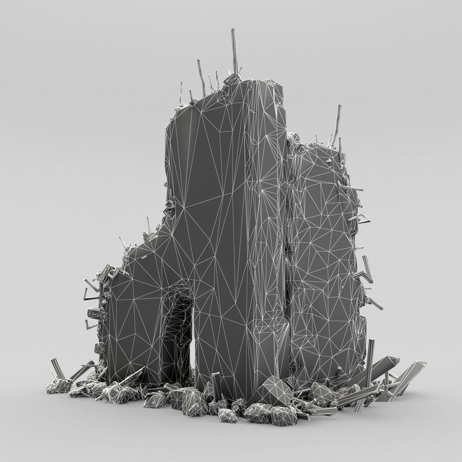 Ruinas de edificios royalty-free modelo 3d - Preview no. 16