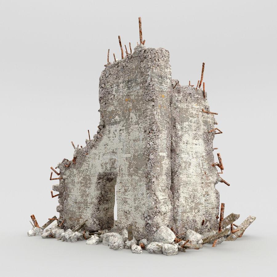 Ruinas de edificios royalty-free modelo 3d - Preview no. 1