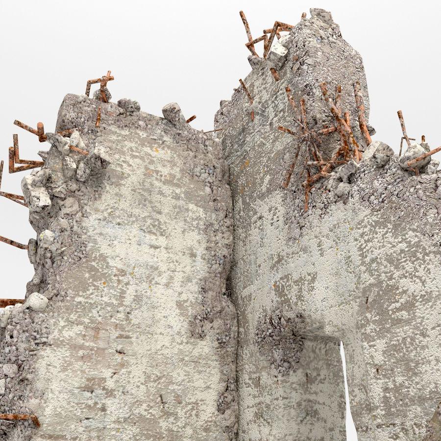 Ruinas de edificios royalty-free modelo 3d - Preview no. 7