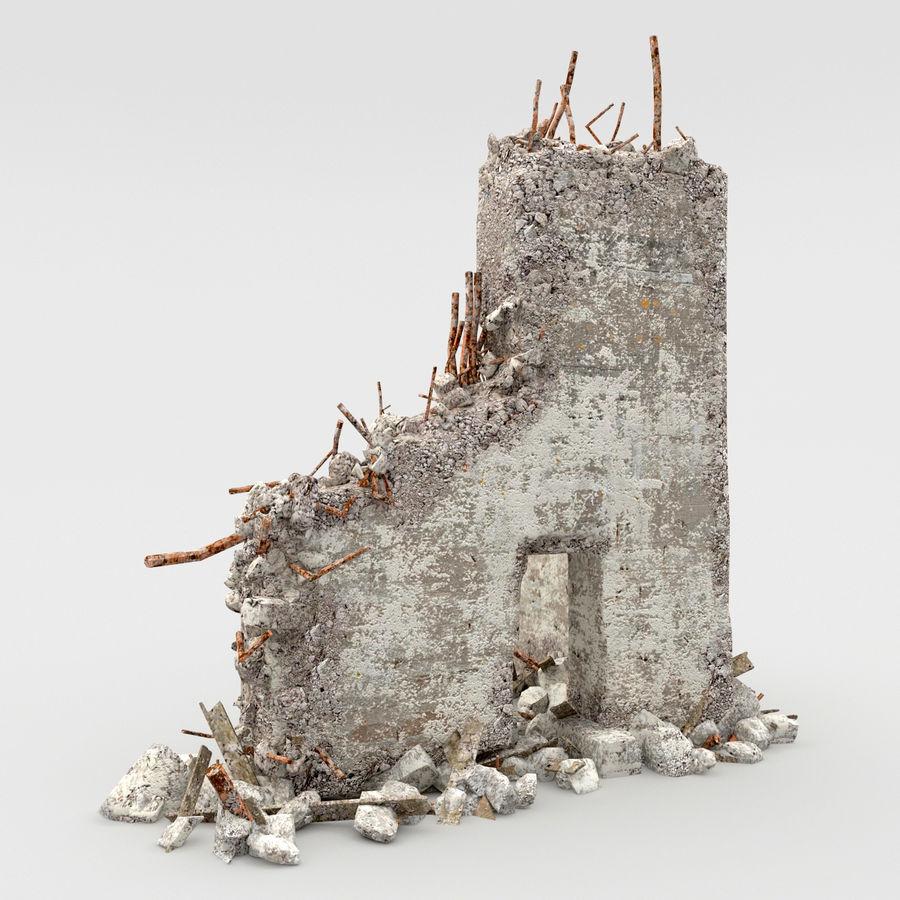 Ruinas de edificios royalty-free modelo 3d - Preview no. 3