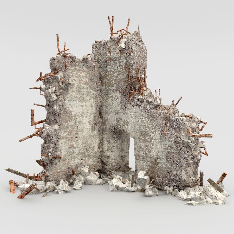 Ruinas de edificios royalty-free modelo 3d - Preview no. 2