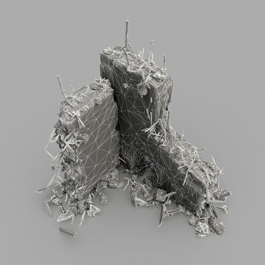 Ruinas de edificios royalty-free modelo 3d - Preview no. 14