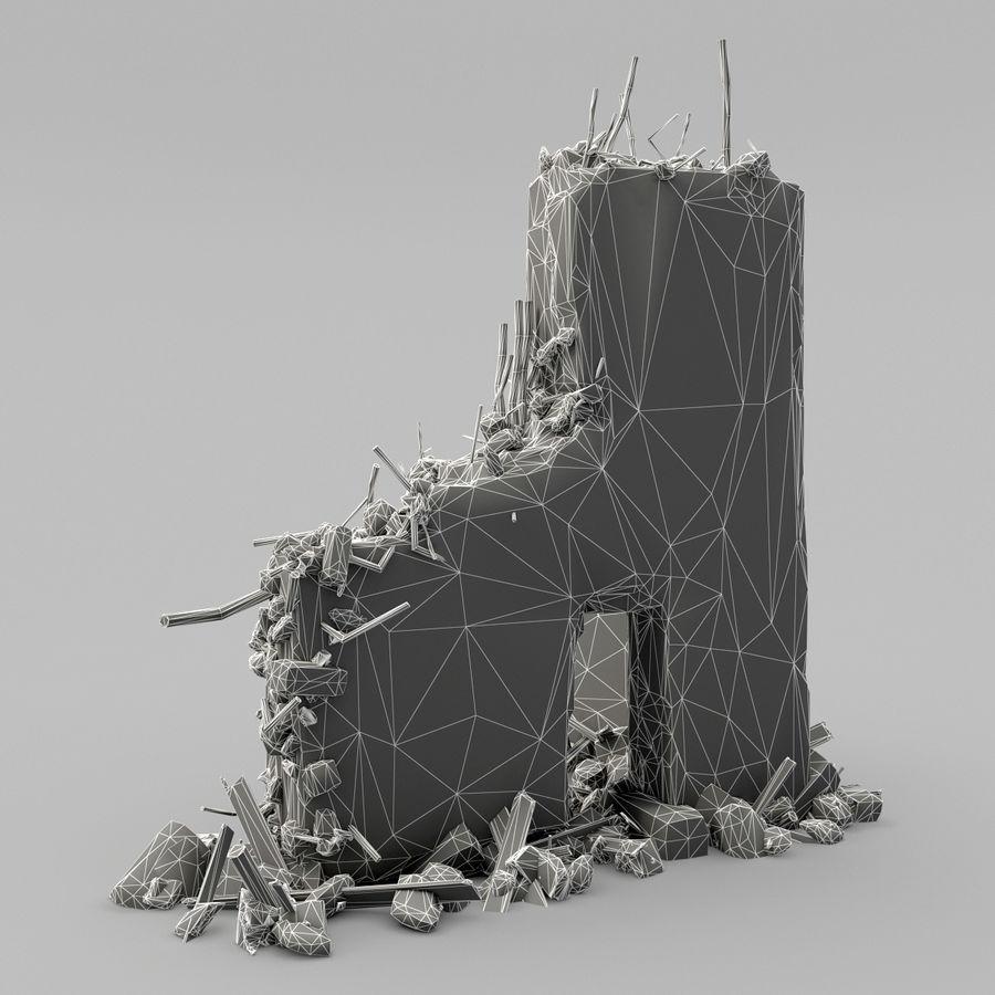 Ruinas de edificios royalty-free modelo 3d - Preview no. 12