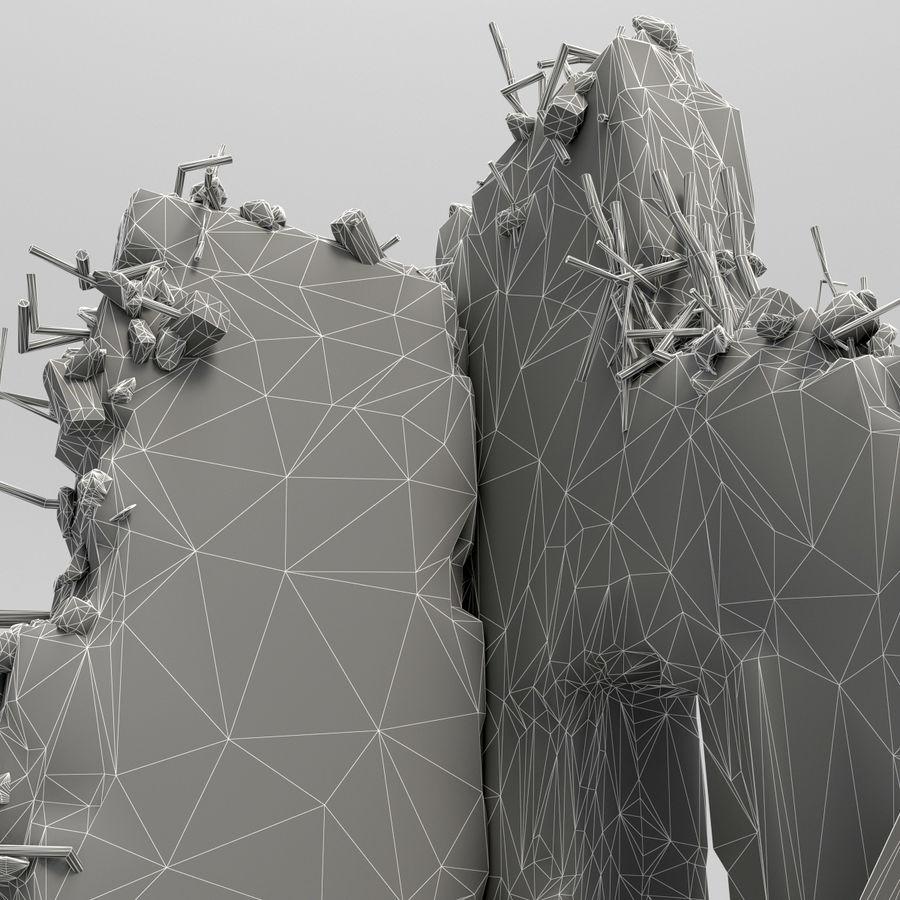 Ruinas de edificios royalty-free modelo 3d - Preview no. 9