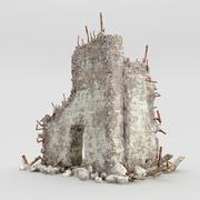 Ruinas de edificios modelo 3d