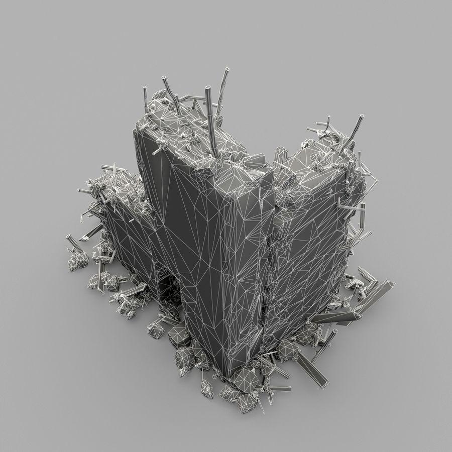 Ruinas de edificios royalty-free modelo 3d - Preview no. 13