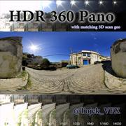 HDR 360 Pano 3D road05 kullersten 3d model