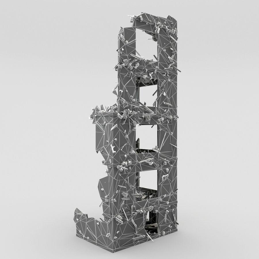 Förstör byggnader royalty-free 3d model - Preview no. 12
