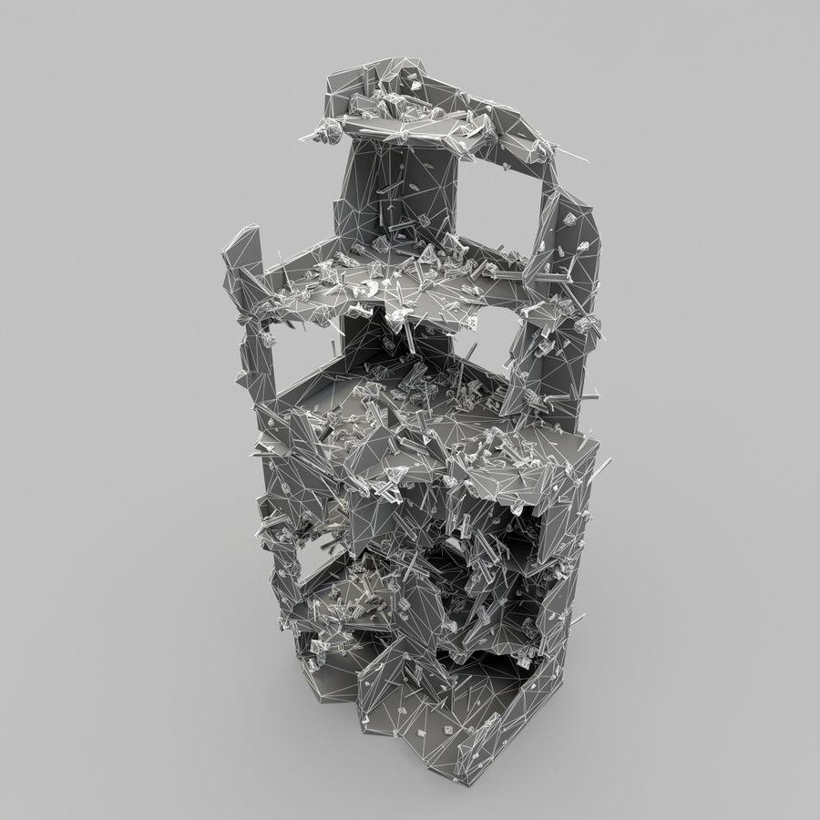 Förstör byggnader royalty-free 3d model - Preview no. 14