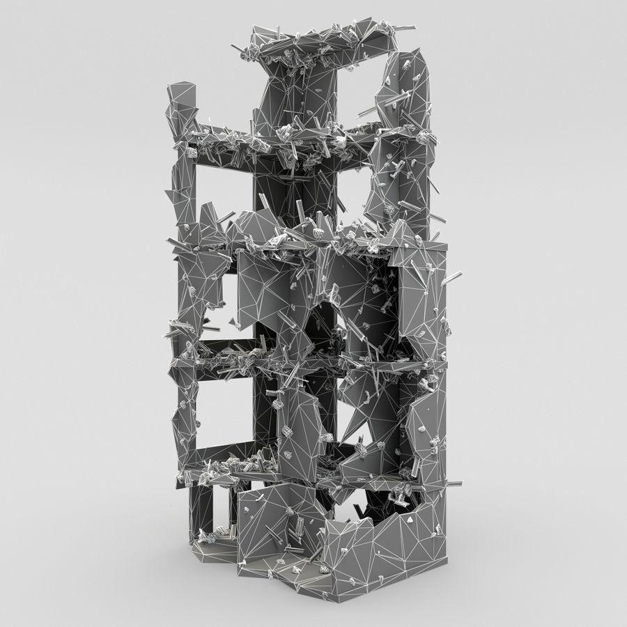 Förstör byggnader royalty-free 3d model - Preview no. 11