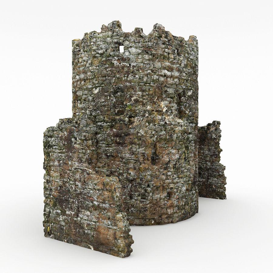 废墟塔 royalty-free 3d model - Preview no. 3