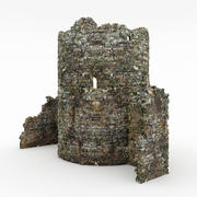 废墟塔 3d model