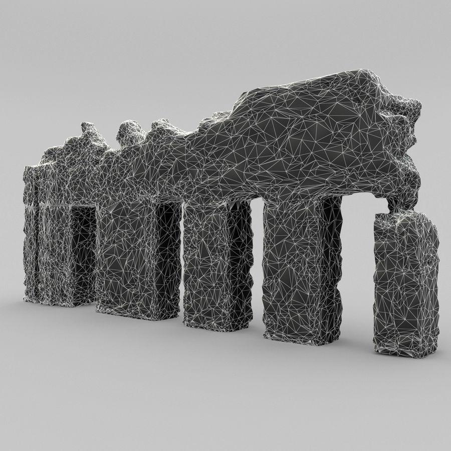 破坏建筑物 royalty-free 3d model - Preview no. 12