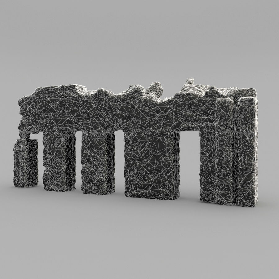 破坏建筑物 royalty-free 3d model - Preview no. 13
