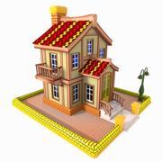 Toon House 2 3d model