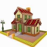 Toon House 3 3d model