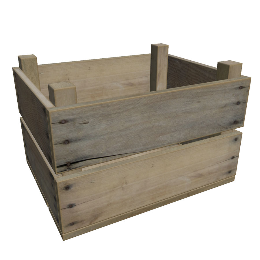 Obstkiste aus Holz royalty-free 3d model - Preview no. 1