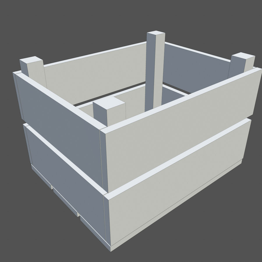 Obstkiste aus Holz royalty-free 3d model - Preview no. 8