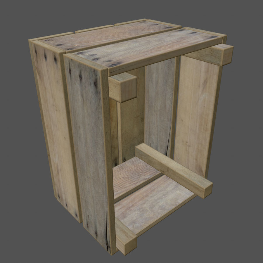 Obstkiste aus Holz royalty-free 3d model - Preview no. 6