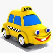 Cartoon Taxi Character 3d model