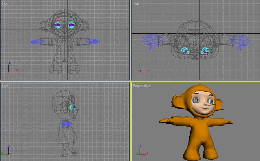 Macaco royalty-free 3d model - Preview no. 6