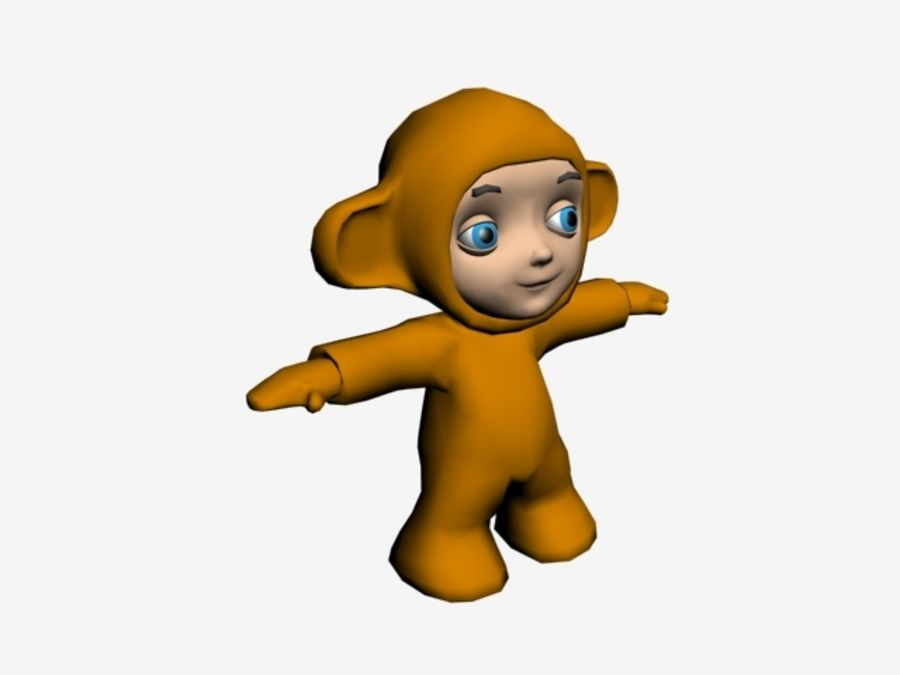 Macaco royalty-free 3d model - Preview no. 2