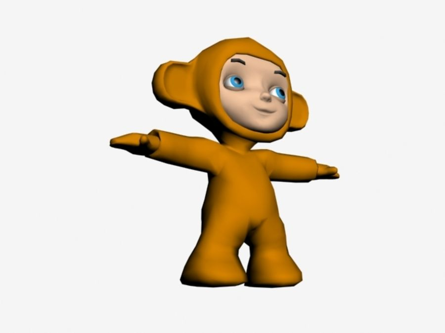 Macaco royalty-free 3d model - Preview no. 3