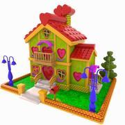 Cartoon Love House 3d model