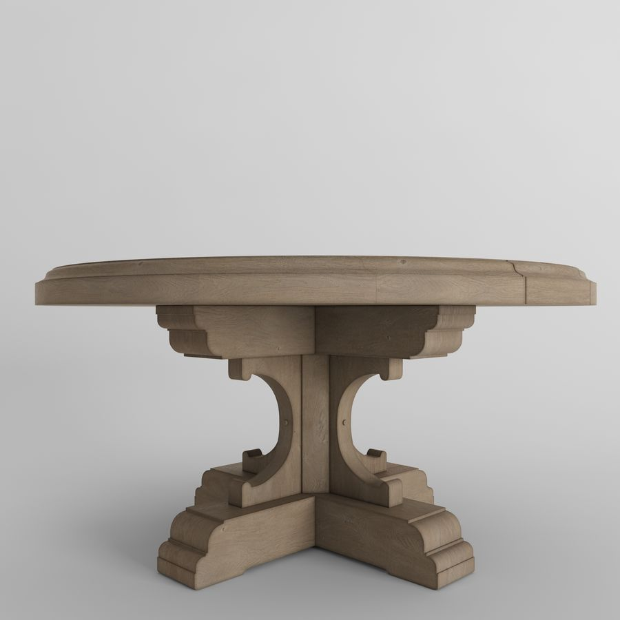 17th C French Bastide Oak Round Dining Table 3d Model 14 Fbx Max Free3d